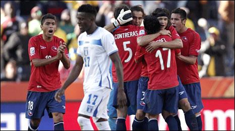 Chile celebrate
