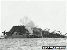 The wreck of the Lancastria