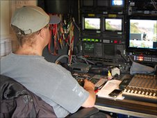 Inside one of the Springwatch 2010 trucks