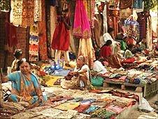 Silk market in Delhi
