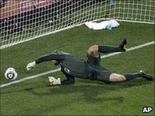 Robert Green lets in goal
