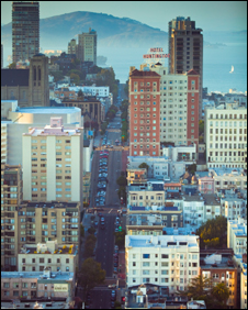 San Francisco street scene, Hal Bergman