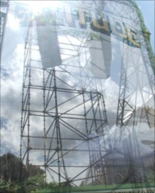 Latitude Festival speaker tower