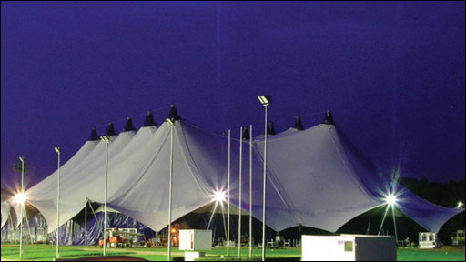 IOM Bay festival tent