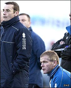 Iain Jenkins (r) will work with Danny Lennon once again (l)