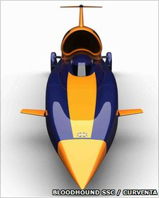 Artist's impression of Bloodhound SSC