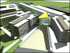 Artists impression of new hospital