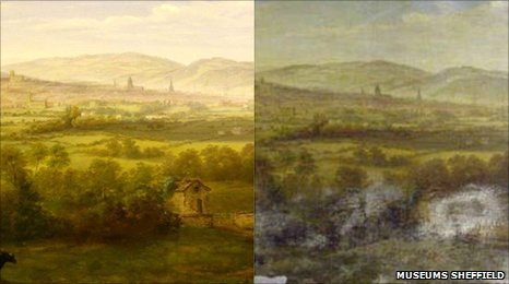 Sheffield from the South East by William Cowen (1836)