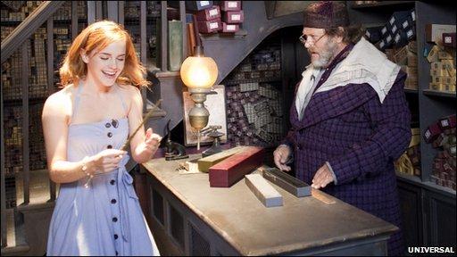 Emma Watson in Ollivander's