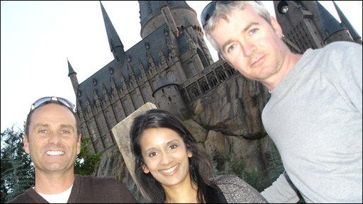 Sonali with creative director Thierry Coup and art director Alan Gilmore