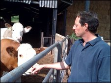 farmer with cattle