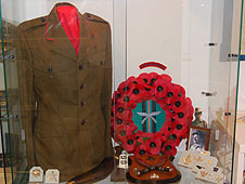 Military uniform at the Bay Museum on Canvey Island