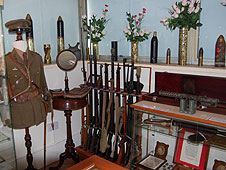 Military memorabilia at the Bay Museum on Canvey Island