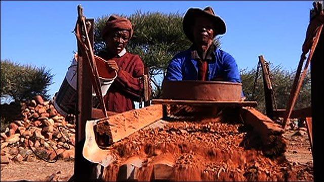 World Cup Bus - The Kimberley diamond mines