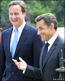 David Cameron and Nicolas Sarzoky