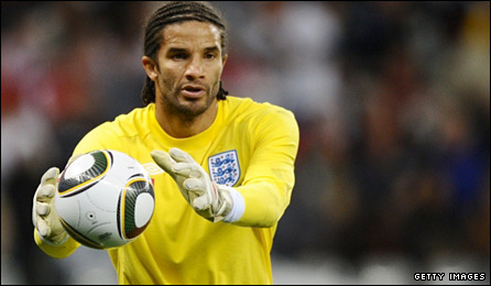 England goalkeeper David James