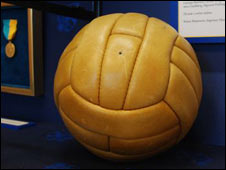 The official match ball for Sweden 1958