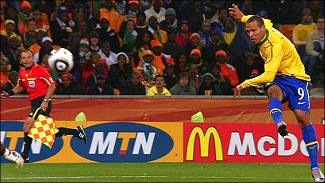 Brazil striker Luiz Fabiano