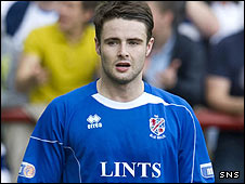 Paul McQuade in action for Cowdenbeath