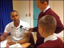 School Reporters, Archbishop Beck Catholic Sports College Community Sport and Tennis Centre, Liverpool, interview  runner Jason Gardener