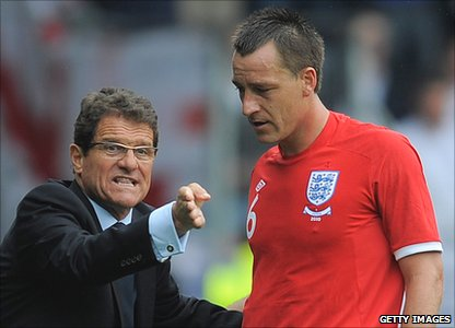 Fabio Capello (left) and John Terry