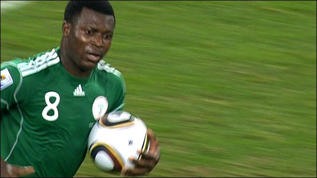 Yakubu after scoring for Nigeria