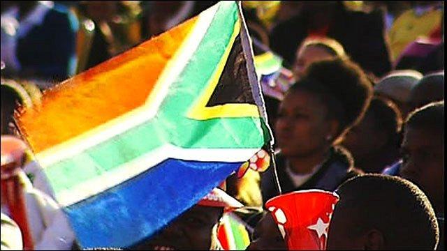 A South Africa flag