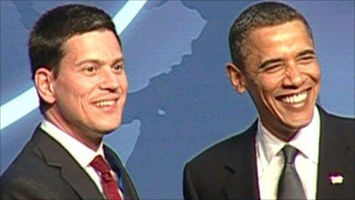 David Miliband and Barack Obama