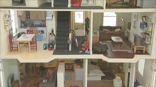 The inside of a dollshouse
