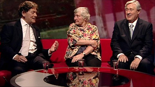 Lord Lawson, Baroness Williams and Geoffrey Robinson
