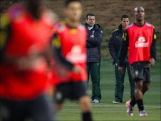 Brazilian team training session