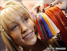 Getting hair extensions