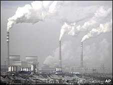 Coal-fired power plant in Shanxi province, China