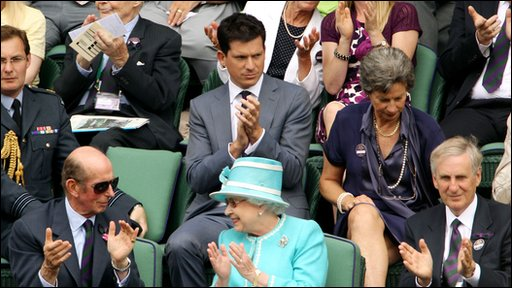 Queen Elizabeth at Wimbledon