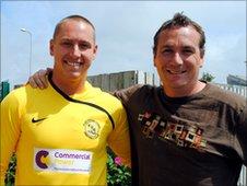 Scott Davies (left)
