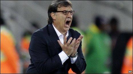 Paraguay coach Gerardo Martino