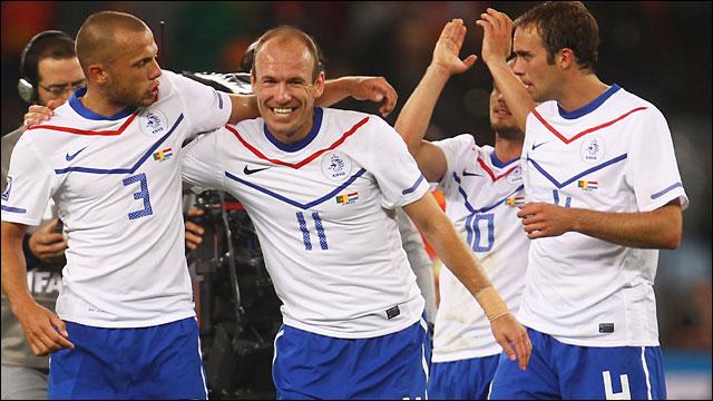 Netherland players celebrate