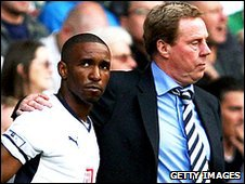 Jermain Defoe and Harry Redknapp