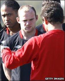 England striker Wayne Rooney