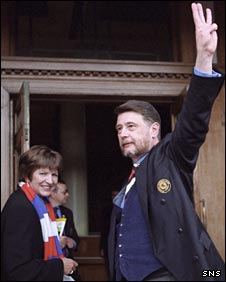 Donald Findlay waves to Rangers supporters at Ibrox