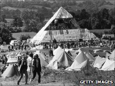 Glastonbury festival in 1971