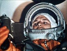 Yuri Gagarin aboard Vostok 1