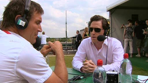 Pat Cash and Rob Brydon