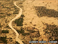 Ariel view of a drought hit region in Niger