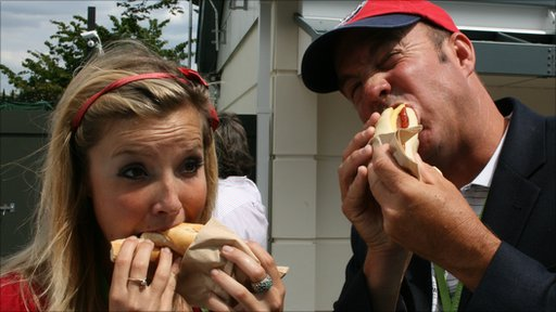 Helen Skelton and Jeff Tarango enjoy a Dutchee