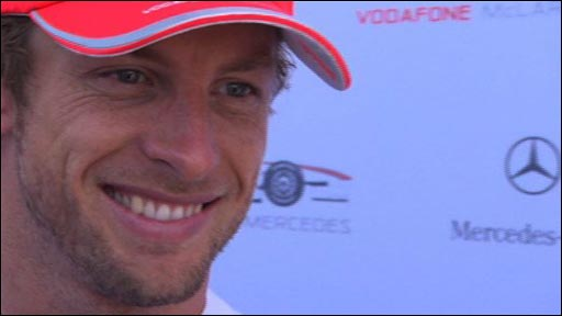 Jenson Button happy with balance of his McLaren car