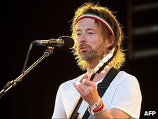 Thom Yorke at Glastonbury
