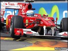 Alonso was fourth fastest in European GP qualifying