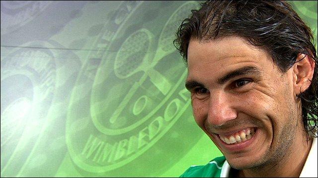 Number two seed Rafael Nadal