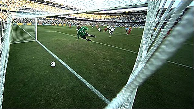 Frank Lampard's shot against Germany